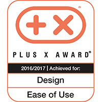 Plus X Award 2016/2017 for Design & Ease of Use