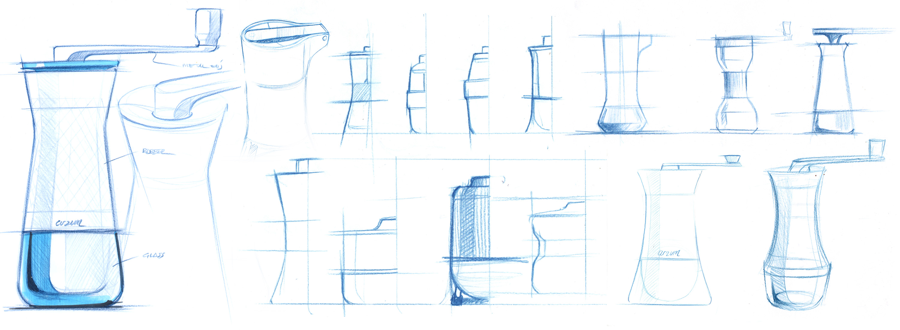 coffee grinder design sketches