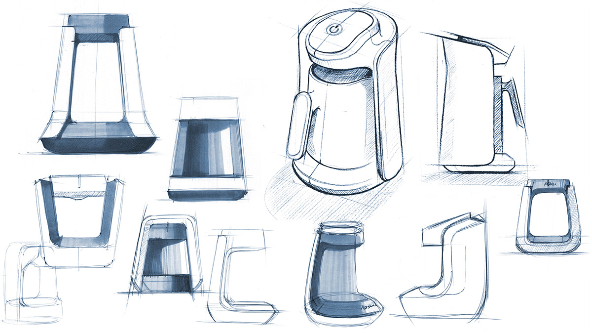 Arzum Okka Minio Design Sketches
