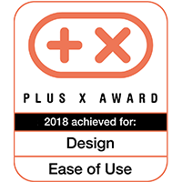 Plus X Award 2018 for Design & Ease of Use