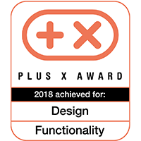 Plus X Award 2018 for Design & Functionality