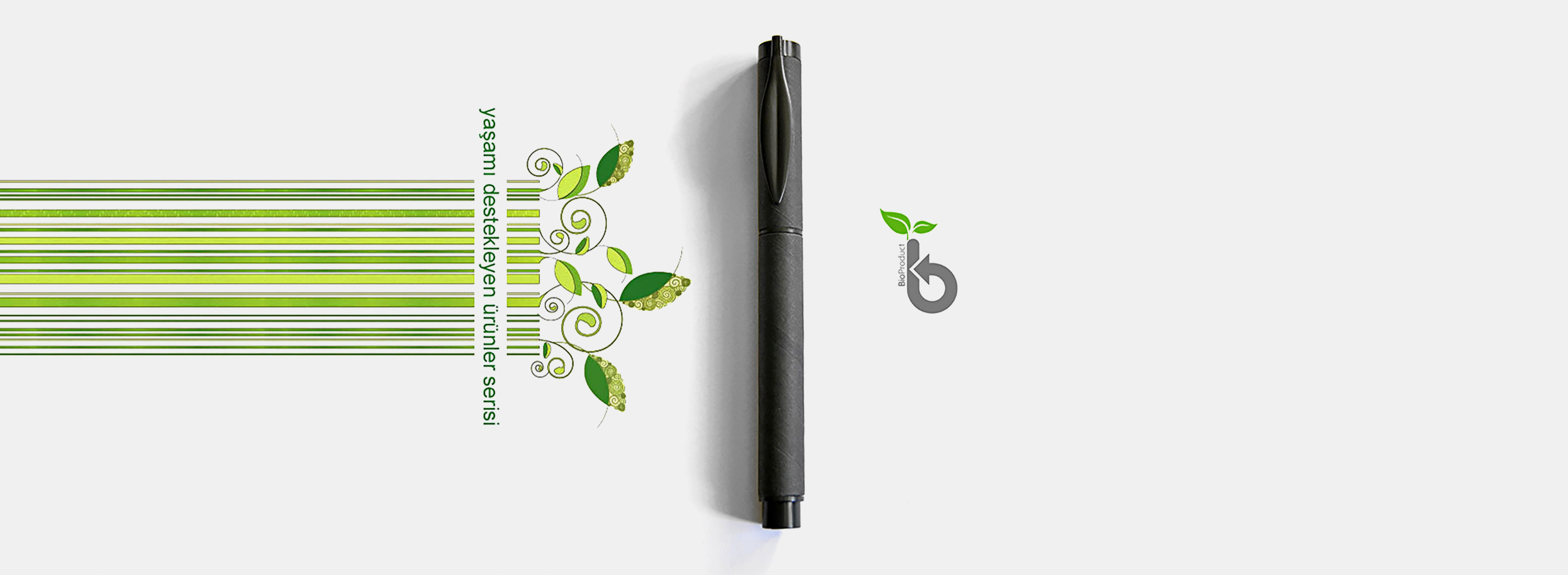 Steppen Biopen Biodegradable Pen Graphics Design